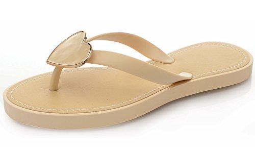 Ladies Womens Flip Flops Summer Beach Flats Toe Post Sandals Shoes Nude