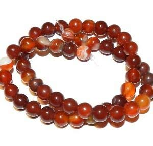 - GR636fa Banded Red Agate 8mm Round Gemstone Beads 15