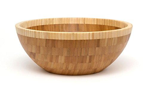 Contrast Salad Serving Spoon (Lipper International 9204 Bamboo Wood Two-Tone Serving Bowl, Large, Single Bowl)