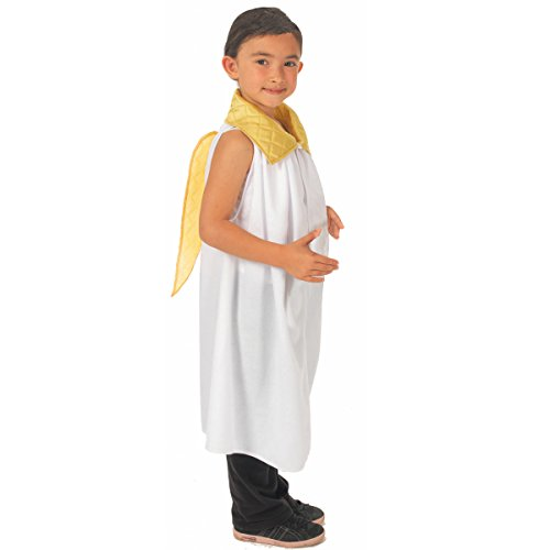 Charlie Crow Angel Costume Kids one Size 3-9 Years