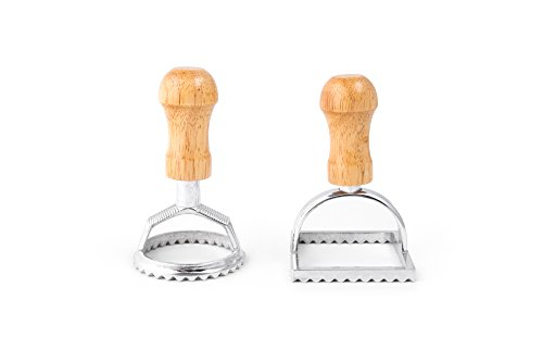 Fox Run 57670 Ravioli Cutter Stamps, Round & Square, Set of 2 (Ravioli Round)