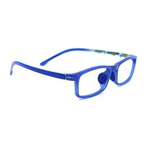 TIJN Classic Rectangle Frame Eye Glasses for Kids Children Age 5-8