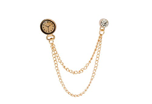 KNIGHTHOOD Men's Golden Watch With Hanging Chain Brooch Golden from KNIGHTHOOD