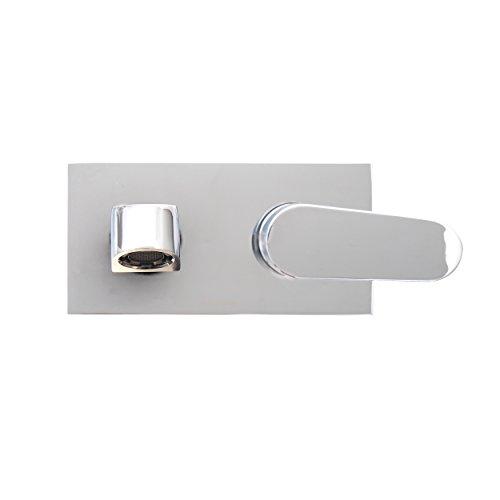 Dyconn Faucet WM2H38-CHR Signature Series Barents Modern Wall Mount Single Lever Lavatory Faucet, Polished Chrome
