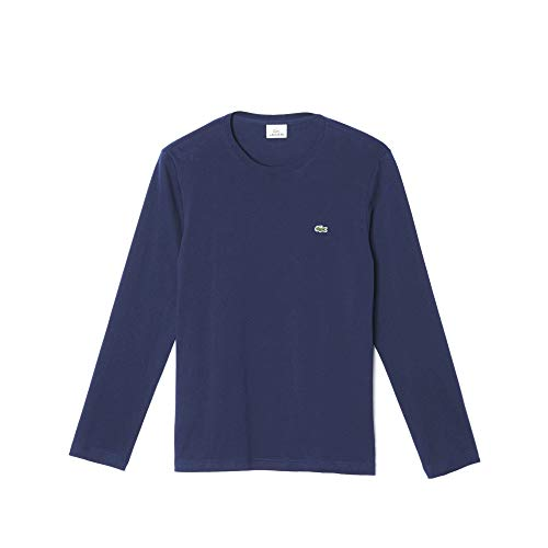 T Lacoste Crew 166 shirt Marine Neck Homme 0FEwF