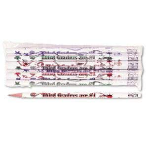 - Moon Products Decorated Wood Pencil, Third Graders are #1, HB #2, WE BRL, (11 Dozen)