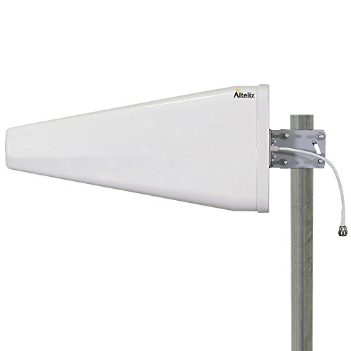 Altelix Wide Band Log Periodic Directional Antenna 698-2700MHz 12dBi 2G 3G 4G LTE WiFi N Female for 50 Ohm Cell Phone Boosters by Altelix