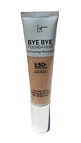"It Cosmetics Bye Bye Foundation Full Coverage Moisturizer with SPF 50 ""Light Medium"" – 1 Ounce"