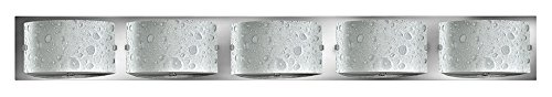 (Hinkley 5925CM-LED2 Contemporary Modern Five Light Bath from Daphne collection in Chrome, Pol. Nckl.finish,)