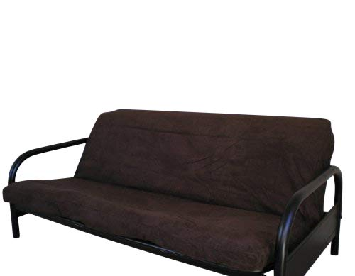Full Size Quality Bonded Micro Suede Futon Cover, Chocolate Brown