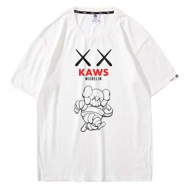 blanc Medium T-Shirt KAWS X Mixte Sesame rue Limited VêteHommests Couple Manches Courtes blanc-XXXL