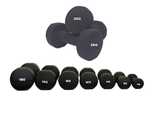 UK Fitness Dumbbell Set Hand Weights Neoprene Coated Dumbbells Dumbell Pairs 2kg 5kg 7kg 10kg INCLUDES FREE ON LINE…