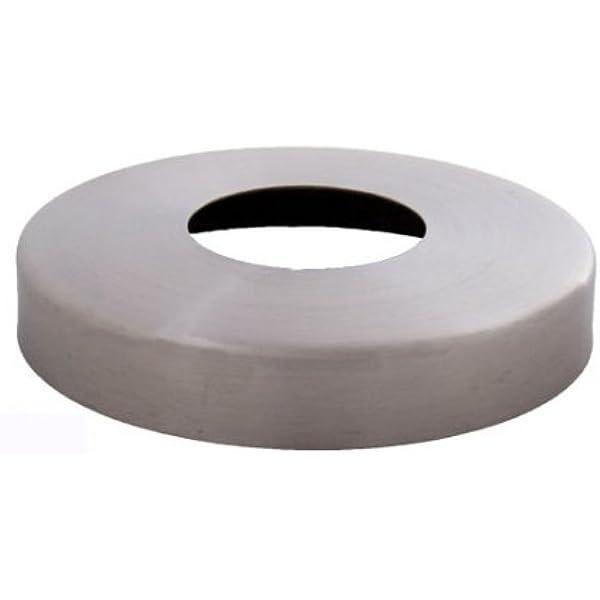 Plafón embellecedor (85/42,8 mm, acero inoxidable V2A, altura aprox. 14 mm),: Amazon.es: Bricolaje y herramientas