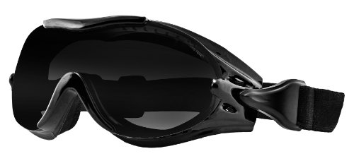 Bobster Phoenix OTG Interchangeable Goggles, Black Frame/3 Lenses (Smoked, Amber and - Glasses Motorcycle Prescription