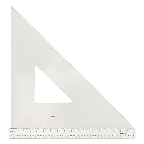 Westcott Professional Triangle, 18'', 45/90 Degree, Transparent (P450-18) by Westcott (Image #1)