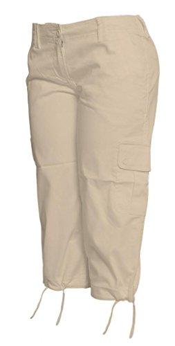 Contemporary Edge Womens Capri Pants - Khaki Tan- Size 6