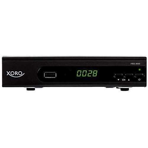 chollos oferta descuentos barato Xoro HRS 8660 Negro Receptor AV 75 Ω Alámbrico MP3 AVC AVI MKV MP4 MPG TS BMP JPG DVB S2