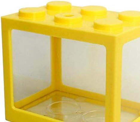 Serenable Mini pecera, pequeña pecera Betta pecera de acuario para medusas peces dorados , caja de decoración de -Varios colores 6