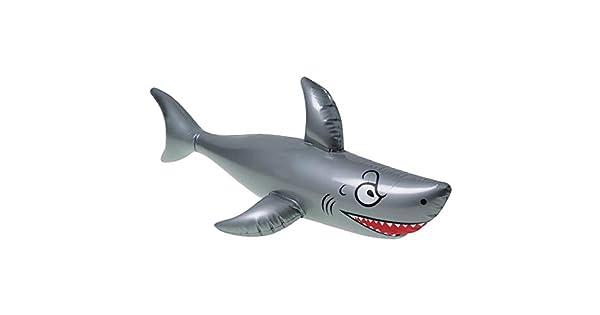 Amazon.com: Tiburón inflable de vinilo, grande, de 40 ...