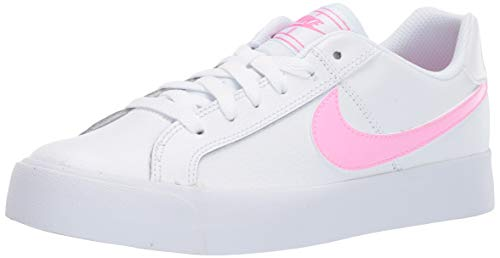 Nike Women's Court Royale AC Sneaker, White/Psychic Pink - Gum Light Brown, 6 Regular US