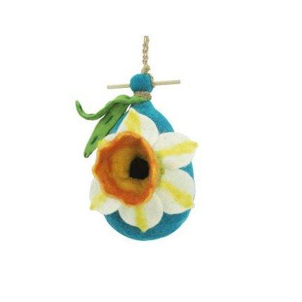 DZI Handmade Designs DZI484034 Daffodil Felt Birdhouse
