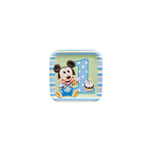 Mickey Mouse 1st Birthday Small Paper Plates