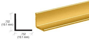 CRL Brite Gold Anodized 3/4