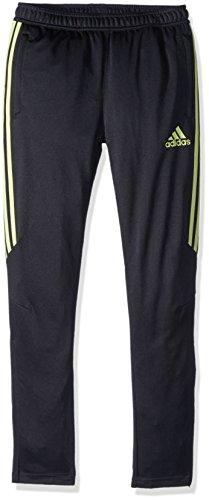 adidas Boys Soccer Tiro 17 Training Pants, Black/Semi Frozen Yellow, Medium