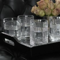 Ralph Lauren Glenplaid Double Old Fashioned Glass (Set of - Four Old Double Fashioneds