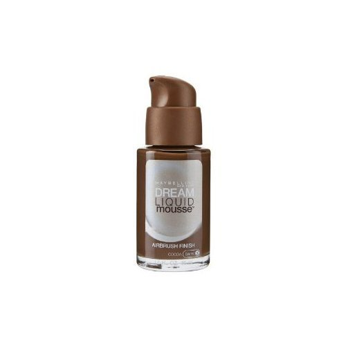 Maybelline Dream Liquid Mousse Airbrush Foundation, Cocoa Dark [3] 1 oz (Pack of 2)