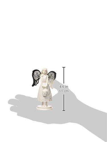 Pavilion Flower Girl Angel Figurine 4.25 Pavilion Gift Company 74610