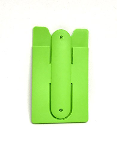 Stick On Credit Card Holder Stand with RFID Blocking Two in One Silicone Wallet by Stickem (Green)