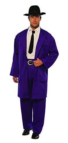 Pizzaz! Men's Costume Zoot Suit, Purple, Standard -