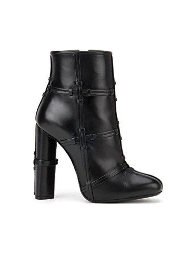 Nudo Black Cabeza Alto uk Áspero Eur Talón Zapatos Botas eur44uk10 Cuero Negro Mujeres 7 Otoño Tobillo 40 Ronda Moda Invierno Cruz Nvxie qORpAw