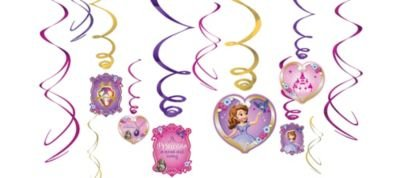 Disney Princess Sofia the First Swirl Decorations 12 (Sofia The First Cut Out)