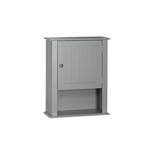 20.5' Casual Compact Daily Use Wall Mounted Cabinet in Grey