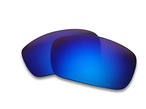 Oakley Fuel Cell Replacement Lenses (Royal Blue) - Polarized, 1.4 mm Thick, AR Coated, Added UV Protection,, Fits Perfectly, For Men & ()