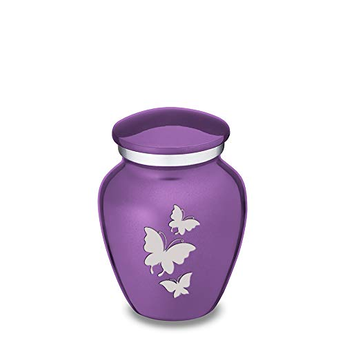 - GetUrns Keepsake Mini Butterfly Cremation Urn for Ashes (Purple)
