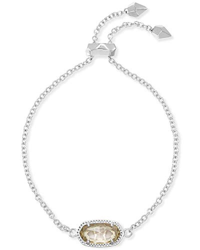Kendra Scott Elaina Chain Bracelet in Clear Crystal and Rhodium Plated