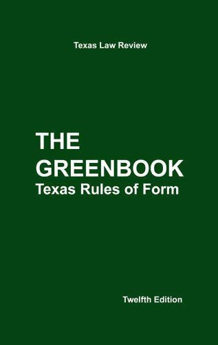 TEXAS RULES OF FORM