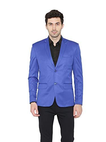 Colori Solido Poliestere 8 Ufficio Smart Blu Maschile Casual Wintage Blazer 8xCaqw55p