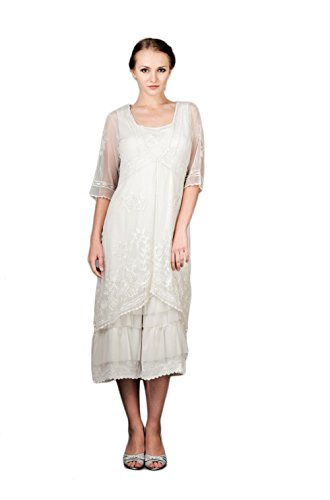 Nataya 2101 Women's Titanic Vintage Style Ivory Wedding Dress (Size 2X) by Nataya