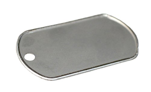 Stainless Steel Military Dog Tag Rolled Edge Blank - Dog Blank Tag