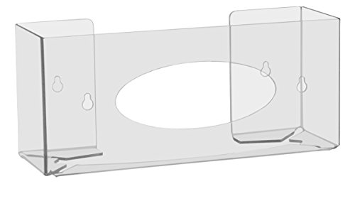 "TrippNT 51141 Single Two Faced Glove Box Holder, 11"" W x 5"" H x 3-1/2"" D, Clear"