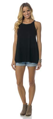 Majamas Costal Tank - Soft Sleeveless Maternity/Nursing/Breastfeeding Top Black