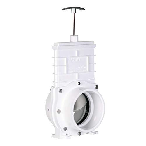 Valterra PVC Gate Valve for Irrigation, Landscape, and More - 4-Inch Slip x Slip Connection ()