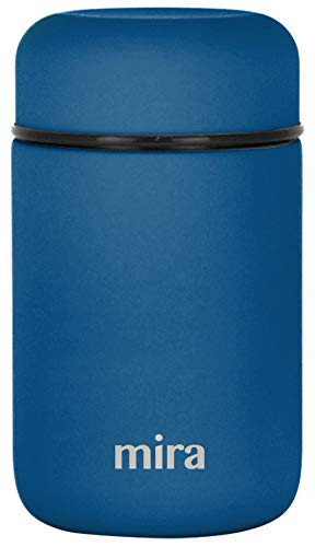 MIRA Lunch, Food Jar, Vacuum Insulated Stainless Steel Lunch Thermos, 13.5 Oz, Denim Blue) from MIRA BRANDS