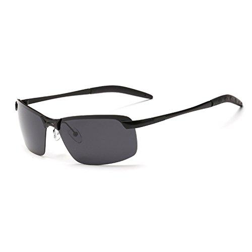 Negro Metálico De Gafas Los Hombres Negro LBY del Gafas Color para Marco Sol Hombre Sol De Polarizadas de dTqwq0Y1