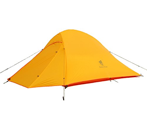 GEERTOP 2 Men 3-4 Season 4 lbs 20D Lightweight Waterproof Dome Backpacking Tent For Camping Hiking Climbing Travel