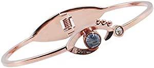 Valentine'S Day Rose Gold 100 Languages I Love You Projection Women Bracelet